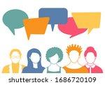 people avatars with speech... | Shutterstock .eps vector #1686720109
