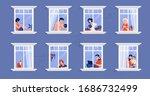 neighbors in apartment. people... | Shutterstock .eps vector #1686732499