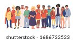 multicultural team. group of... | Shutterstock .eps vector #1686732523