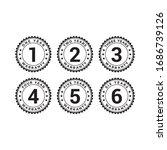 set of minimalist 1  2  3  4  5 ... | Shutterstock .eps vector #1686739126
