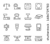 weighing scale  icon set. beam...   Shutterstock .eps vector #1686739783