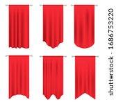 red long sport advertising... | Shutterstock .eps vector #1686753220