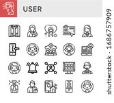 user simple icons set. contains ... | Shutterstock .eps vector #1686757909