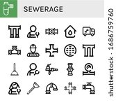 sewerage simple icons set....   Shutterstock .eps vector #1686759760