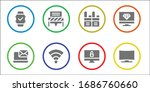 wireless icon set. 8 filled... | Shutterstock .eps vector #1686760660