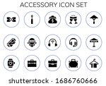 accessory icon set. 15 filled...   Shutterstock .eps vector #1686760666