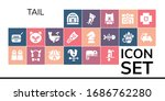 tail icon set. 19 filled tail... | Shutterstock .eps vector #1686762280