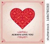 love congratulation with heart...   Shutterstock .eps vector #1686780283