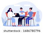 happy young people drinking... | Shutterstock .eps vector #1686780796