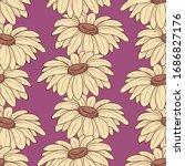 daisy stems seamless pattern...   Shutterstock .eps vector #1686827176