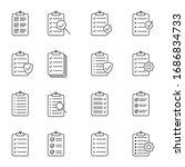 clipboard line icon. checklist... | Shutterstock .eps vector #1686834733