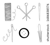 A Set Of Sewing Accessories In...