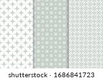 a set of seamless linear... | Shutterstock .eps vector #1686841723
