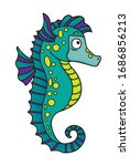 a cute cartoon drawing of a... | Shutterstock .eps vector #1686856213