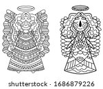 cartoon angels with grand wings ... | Shutterstock .eps vector #1686879226