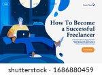 flat vector concept... | Shutterstock .eps vector #1686880459