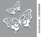 butterflies design | Shutterstock .eps vector #168688868
