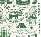 set of outdoor adventure...   Shutterstock .eps vector #1686893029