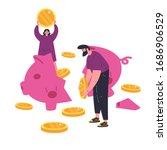 concept of coronavirus economic ...   Shutterstock .eps vector #1686906529