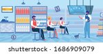 workers for supermarket or food ...   Shutterstock .eps vector #1686909079