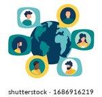 vector illustration of new... | Shutterstock .eps vector #1686916219
