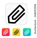 paperclip icon. vector...