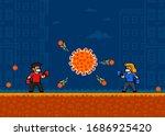 people fight virus. concept.... | Shutterstock .eps vector #1686925420