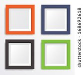 set of photo frames vector 6  | Shutterstock .eps vector #168692618