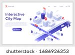 landing page template with... | Shutterstock .eps vector #1686926353