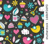 romantic seamless pattern.... | Shutterstock .eps vector #168692693