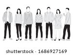 vector silhouettes of  men and... | Shutterstock .eps vector #1686927169
