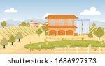 Grape Farm With Large Vineyard...