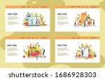 diet plan on large laptop s... | Shutterstock .eps vector #1686928303