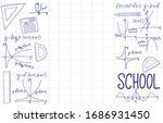 back to school sale banner with ... | Shutterstock .eps vector #1686931450