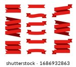 set red ribbons banners... | Shutterstock .eps vector #1686932863