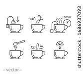 tea preparation instruction... | Shutterstock .eps vector #1686937093