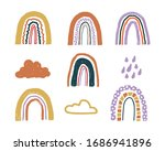 vector set with childish hand...   Shutterstock .eps vector #1686941896