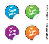 new price labels and sticker... | Shutterstock .eps vector #168694619