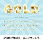 gold 3d font. cut out golden...   Shutterstock .eps vector #1686950176