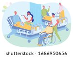 daily care for elderly patients ... | Shutterstock .eps vector #1686950656
