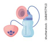 breast pump vector icon.cartoon ... | Shutterstock .eps vector #1686957913