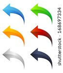 arrow icon set | Shutterstock . vector #168697334