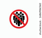 no crowd of people icon  do not ... | Shutterstock .eps vector #1686986560