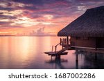 Overwater Bungalows In French...