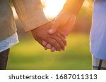 a happy senior couple asian old ... | Shutterstock . vector #1687011313