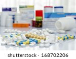 variety of medicines and drugs | Shutterstock . vector #168702206