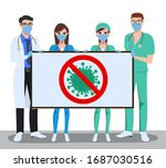 medical front liners characters ... | Shutterstock .eps vector #1687030516