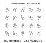 simple set of gesture related... | Shutterstock .eps vector #1687038376