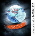 coranavirus pandemic background.... | Shutterstock .eps vector #1687041796