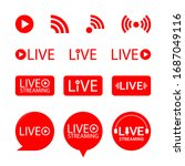 set of live streaming icons.... | Shutterstock .eps vector #1687049116